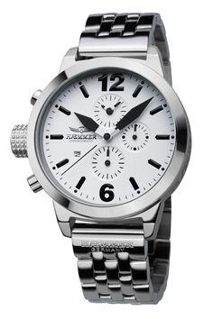 Haemmer Ladies DHC-19 Secrets Nereus White Dial Chronograph Watch