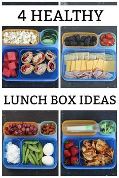 4 healthy school lunch box ideas six sisters' Healthy Party Snacks, Healthy School Lunches, Lunch Snacks, Clean Eating Snacks, Healthy Recipes, Work Lunches, Healthy Meals, Bag Lunches, Healthy Packed Lunches