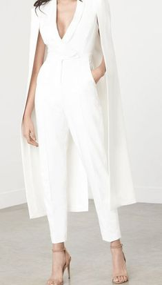 18 Jumpsuit that are Cheap AF - Style Spacez Jumpsuits For Women Formal, Formal Pants Women, Pantsuits For Women, White Pant Suit Women, Bridal Pants, Wedding Pants, Bridal Pant Suits, Wedding Dress, High Fashion Dresses