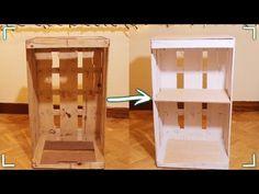 Como hacer una Repisa Estantería o armario con madera reciclada (FACILITO) - YouTube Wooden Storage Crates, Crate Shelves, Crate Storage, Crate Desk, Home Crafts, Diy Crafts, Diy Mirror, Diy Garden Decor, End Tables