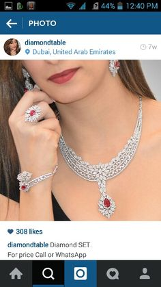 Never seen a design like this Diamond Necklace Simple, Small Necklace, Diamond Pendant, Necklace Set, Ruby Jewelry, Diamond Jewelry, Jewelry Sets, Jewelery, Fashion Jewellery Online