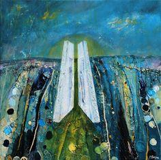Tulach a' tSolais, Oulart Hill Portrait Illustration, Hand Illustration, Large Prints, Fine Art Prints, Graffiti I, Irish Landscape, Beautiful Artwork, Oil Painting On Canvas, Lovers Art