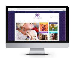 Layna Lark website design and development by The Savvy Socialista.