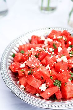 Watermelon, feta and mint salad  {Two Peas and Their Pod...recipe link in post}