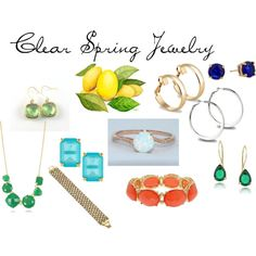 Clear Spring Jewelry by expressingyourtruth on Polyvore featuring 1928, Kate Spade, Jon Richard, Les Néréides, Lauren Ralph Lauren, Glitzy Rocks and MOOD