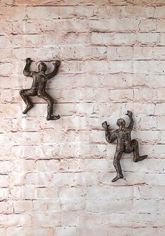 Miniature rock climber sculpture Climbing man sculpture by nuntchi
