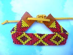 Tribal Bohemian Hippie Beaded Bead Loom Bracelet TabeasTreasures via Etsy