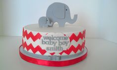 Design inspired by Not Just Cakes by Annie. Thanks, Annie! Elephant Baby Shower Cake, Elephant Cakes, Baby Shower Cakes, Cake Websites, Fondant Figures Tutorial, Welcome Baby Boys, Beautiful Desserts, Just Cakes, Cool Birthday Cakes
