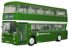 Leyland Atlantean NBC Diecast Model Bus by BritBus AN1-18 This Leyland Atlantean NBC Diecast Model Bus is Green and features working wheels. It is made by BritBus and is 1:76 scale (approx. 12cm / 4.7in long). #BritBus #ModelBus #Leyland