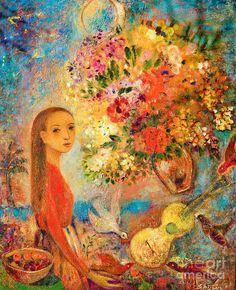 """Starry Night"" Fine Art Print, oil on linen 2009 © Shijun Munns 黄诗筠 www.shijunart.com  http://fineartamerica.com/profiles/shijun-munns.html  www.facebook.com/shijunart  #Art #OilPaintings  #Spring  #painting #Portrait #artist #shijunart #shijunmunns #artlanta #atlantaartist"