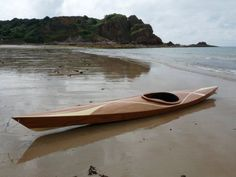 A home built Chesapeake 14 sea kayak in the Channel Islands