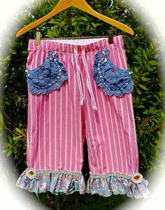 Paris Fancy Pants Boho Romantic Rustic Pantaloons by IzzyRoo
