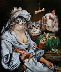 Animal society by Sylvia Karle Marquet - Beauty will save Chats Image, Image Chat, Costume Chat, Cat Costumes, Animal Dress Up, Animal Society, Animal Party, Party Animals, Jolie Photo