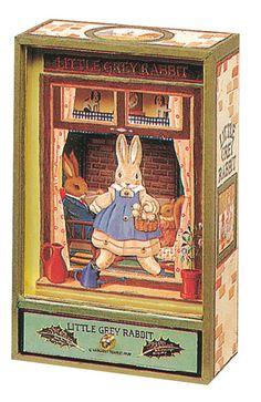 Large Dancing w/Music Little Grey Rabbit© - Green