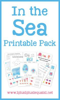 FREE In the Sea Printable Pack ~ Ocean theme printables for tots and preschoolers