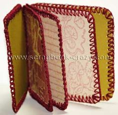 A cool Crochet Mini Album tutorial for you to create fabulous minis. Make it now!