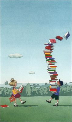 Reminds me of going to the library with Melissa when she was a little girl :-)  (Los Angeles Festival of Books Poster illustrated by Yan Nascimbene)