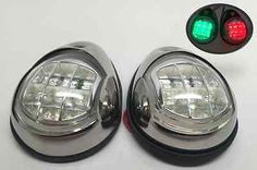 Buy Marine Boat Pontoons Yacht Light Stainless Steel LED Bow Navigation Lights at online store Deck Boat, Stainless Steel 304, Boat Accessories, Marine Boat, Light Side, Pontoon Boat, Ebay Auction, Boat Parts