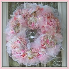 Olivia's Romantic Home: Lady Victorianna Tea Party Wreath