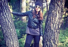 Featured member Lia Makrigeni joins us from Greece where she keeps it cool and layers up! Keep Cool, Greece, Personal Style, Layers, Bomber Jacket, Leather Jacket, Cool Stuff, Stylish, Jackets