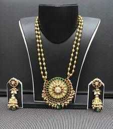 Buy jadau Necklace online Mirraw Antique Gold Jewelry