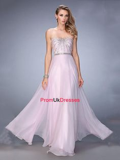 A-line Sweetheart Neckline Beaded Bodice Chiffon Prom Dress Grad Dresses Short, Prom Dresses 2016, Cheap Evening Dresses, Evening Gowns, Lovely Dresses, Simple Dresses, Pastel Prom Dress, Strapless Dress Formal, Formal Dresses