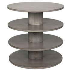 28 inches high x 28 inches wide x 28 inches deep 4 Tier Shelf, Grey Side Table, Wood Dust, Light Oak, Weathered Wood, Rustic Chic, Light Table, Custom Furniture, Shelving