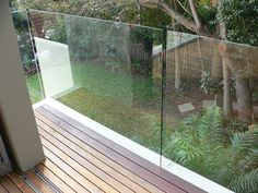 frameless balustrade glass - Google Search