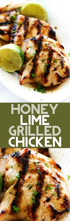 This Easy Honey Lime Grilled Chicken is sweet, citrusy and perfect for the warmer weather. It has a delicious marinade that is infused into each bite of the tender chicken and is topped with an additional honey-lime glaze. It is super simple to make and will become a new regular at your house!