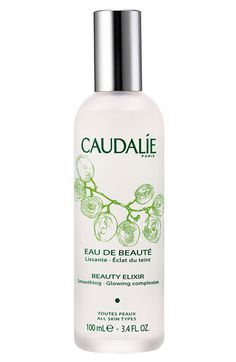 Caudalie Beauty Elixer.  Spray on toner, primer, refresher.  Unbelievably soothing and brightening.  All natural too. Available at Embody Wellness!