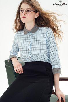 Geometry Shirt (Blue) - Miss Patina - Vintage Inspired Fashion