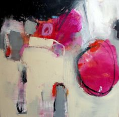 ~Wendy McWilliams #art #painting #colour #pink #red #modern #abstract