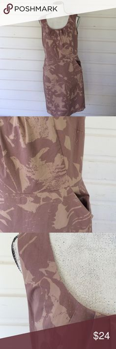 "Loft by Ann Taylor floral print Mauve midi dress Ann Taylor modest mauve dress. Fully lined, defined waist line and cinched neckline. Equipped with pockets and a side zipper this dress just makes sense. Slit in the back. Length-38"", underarm-19"", waist-17"". Offers warmly received. LOFT Dresses Midi"