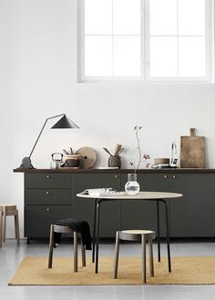 my scandinavian home: A Fabulous Debut Collection from Nothern #kitchen #darkgreen