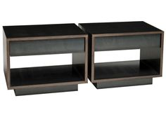 Steel-Wrapped Wood Nightstand | Custom contemporary furniture, lighting and interiors