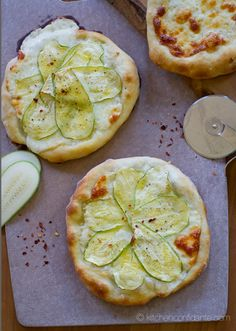 pizza bianca - white pizza {with zucchini}   kitchen confidante