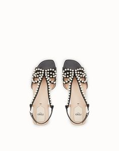 8fd0ae6a07f0 FENDI SANDALS - Black leather sandals - view 4 zoom Black Leather Sandals