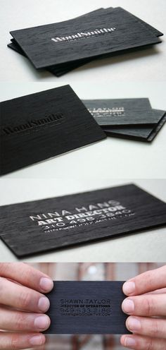 62 cool examples of big typography in business card design 5 perfectly carved wooden business card designs reheart Choice Image