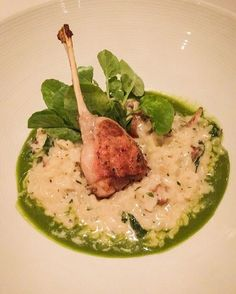 Frog leg Risotto from Restaurant R'evolution! #YUM #NewOlreans