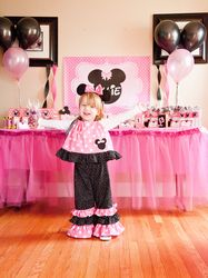 "Photo 1 of 24: Minnie Mouse / Birthday ""Minnie Mouse Red, Black & White Dessert Table"" 