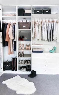 faire son dressing soi même -femme-placard-tiroirs-rangement-chaussures-tapis