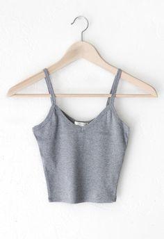 Knit V-neck Cami Crop Top