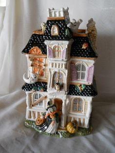 Halloween Haunted House Cookie Jar by Fitz & Floyd