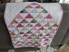 Modern Baby Girl Quilt by Mary Kelly