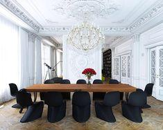 Удачно подобранная шикарная люстра для классического потолка с лепниной