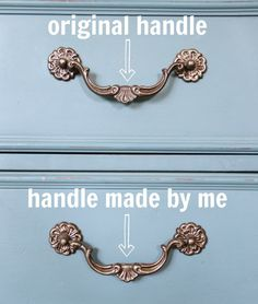 I can't even explain how my mind was just blown by this.  How To Make a Matching Missing Handle for Furniture