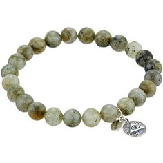 Chan Luu 7 1/2' Labradorite Stretchy Single Bracelet ($105) ❤ liked on Polyvore featuring jewelry, bracelets, charm jewelry, stretch bracelet, bracelet jewelry, chan luu jewelry and bracelet bangle