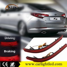 12V High Power 7W Red Auto Brake Lamp LED Rear Bumper Reflector Tail Light For K5