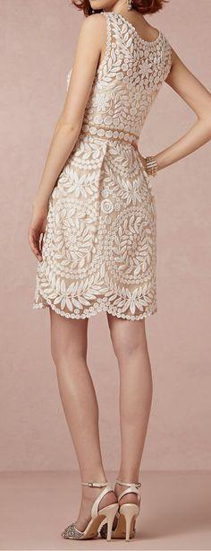 Pretty lace reception dress