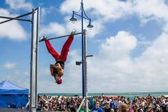"""""""@wswcf UK World Cup Stage 2015  Kallos from Belgium  taking first place, deservedly.  The crowd was HUGE.  I'm proud to announce @calisthenics.uk will…"""""""